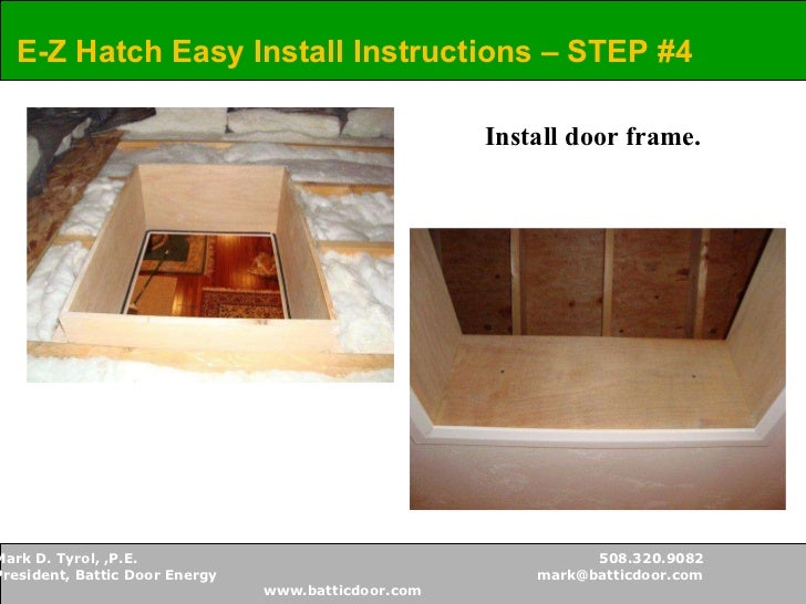 o.c. FITS BETWEEN TRUSSES 24u201d o.c.; 12.  sc 1 st  SlideShare & Battic Door - Attic Access Solutions pezcame.com
