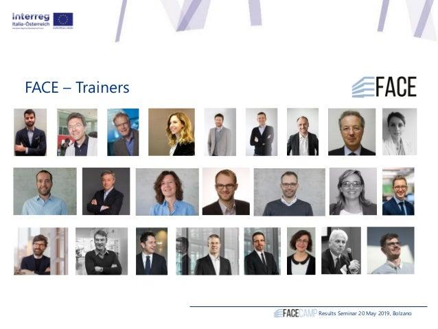 FACE – Trainers Results Seminar 20 May 2019, Bolzano
