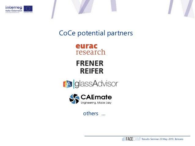 CoCe potential partners others … Results Seminar 20 May 2019, Bolzano