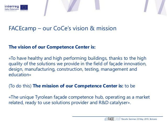 The vision of our Competence Center is: «To have healthy and high performing buildings, thanks to the high quality of the ...