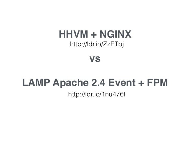 ! HHVM + Apache 2.4! ! http://ldr.io/1w6dtrZ