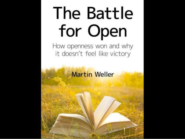 So, I've written this book… Bit.ly/battle4open