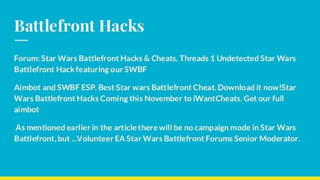 Battlefront 2 hacks pc