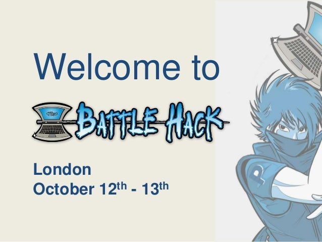 Welcome to London October 12th - 13th