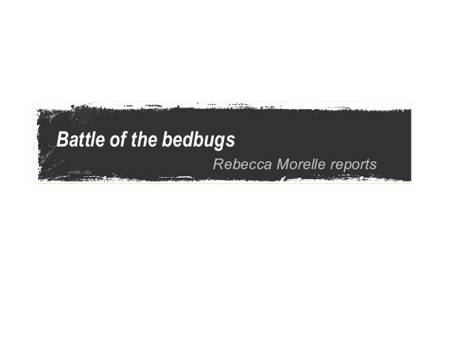 Battle of the bedbugs                  Rebecca Morelle reports