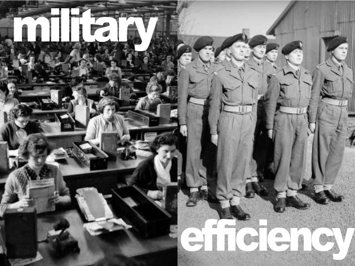 military<br />efficiency<br />