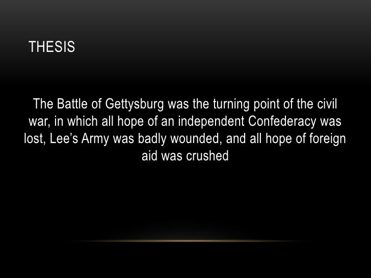 battle of gettysburg thesis statement