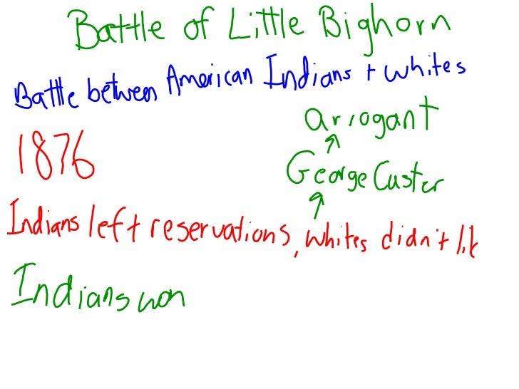 Battle of little bighorn notes
