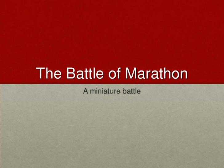 The Battle of Marathon<br />A miniature battle<br />