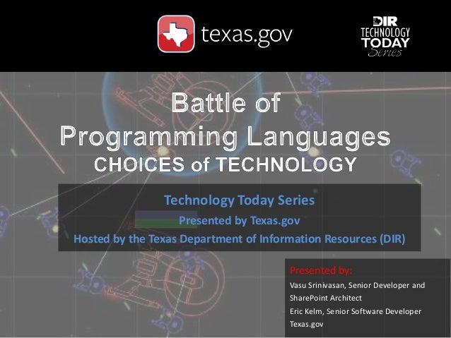 Presented by: Vasu Srinivasan, Senior Developer and SharePoint Architect Eric Kelm, Senior Software Developer Texas.gov Te...