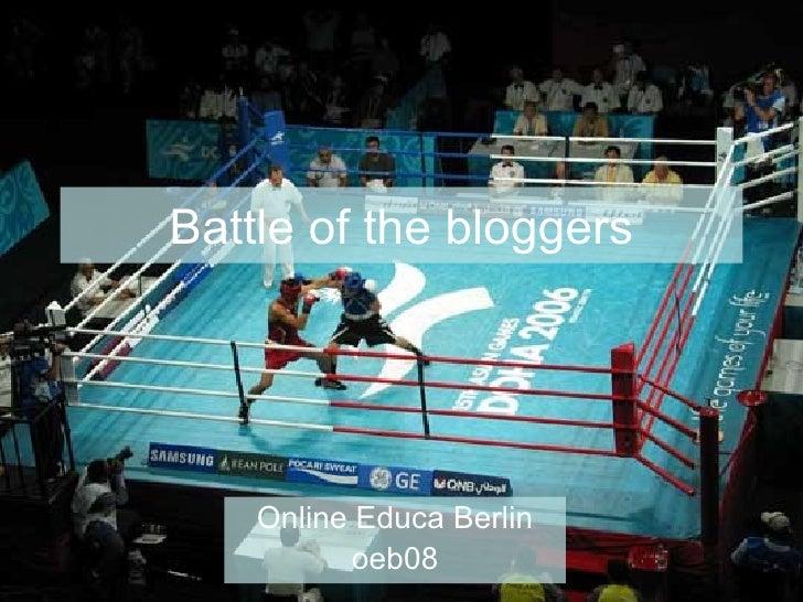 Battle of the bloggers Online Educa Berlin oeb08
