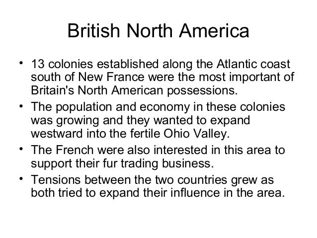 The importance of the conflicts between britain and its colonies