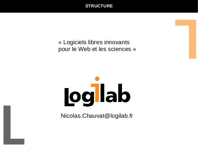 STRUCTURE  « Logiciels libres innovants  pour le Web et les sciences »  Nicolas.Chauvat@logilab.fr