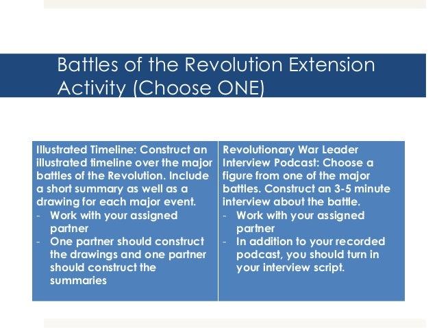 Battles of the Revolution PPT