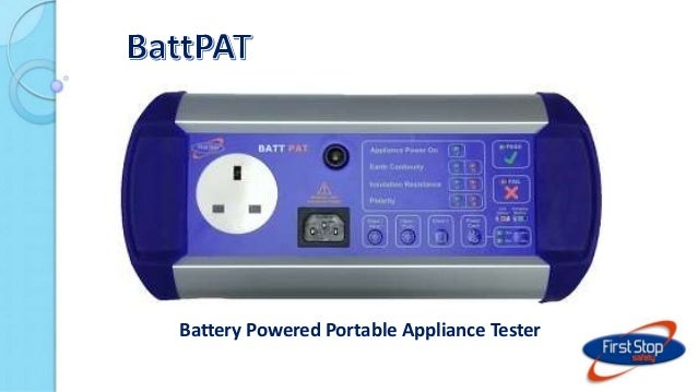 Battery Powered Portable Appliance Tester