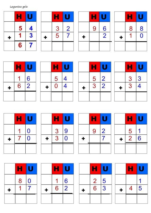 Batuketak taularekin  2 zifra  Slide 2