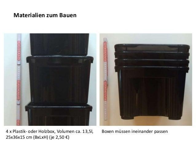 bauanleitung wurmkiste. Black Bedroom Furniture Sets. Home Design Ideas