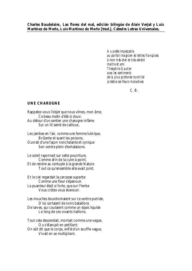 Charles Baudelaire, Las flores del mal, edición bilingüe de Alain Verjat y LuisMartínez de Merlo, Luis Martínez de Merlo [...
