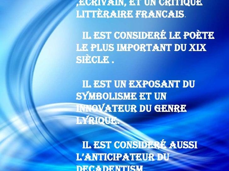 Baudelaire par alessia et anna Slide 2