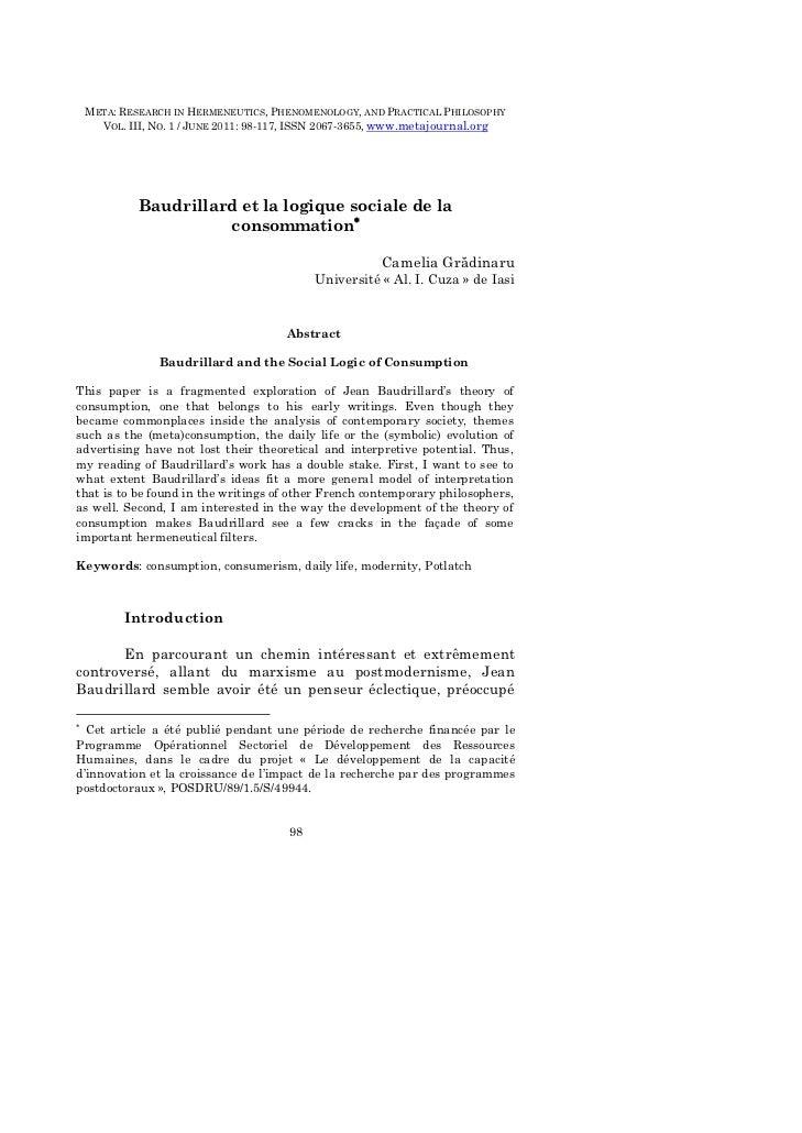 META: Research in Hermeneutics, Phenomenology, and Practical Philosophy – III (1) / 2011    META: RESEARCH IN HERMENEUTICS...