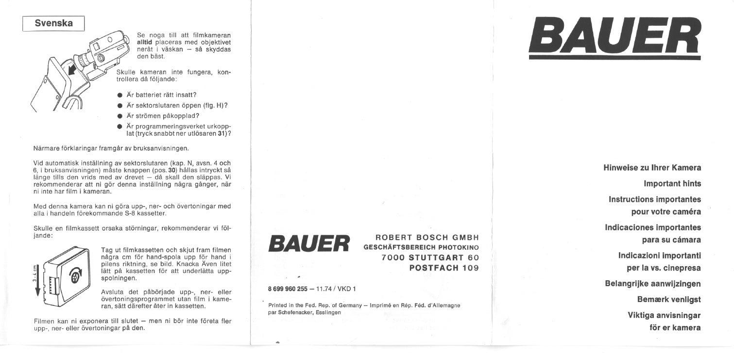 Bauer a512 hints_swedish dutch danish german english french spanish italian