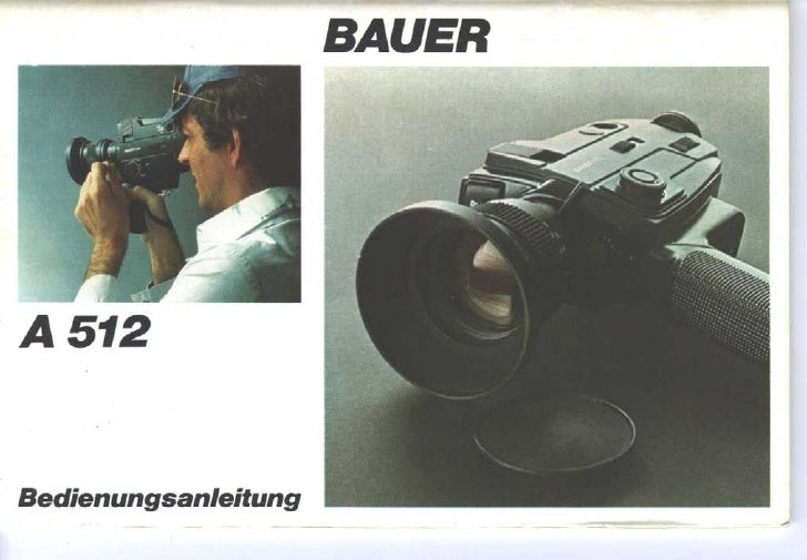 Bauer a512 user manual_german