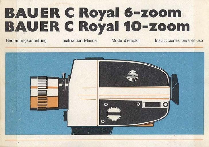Bauer c royal 6 zoom-bauer c royal 10-zoom_user manual_german