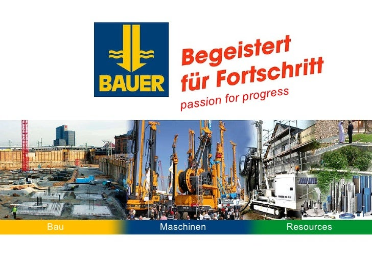 Maschinen Bau Resources passion for progress