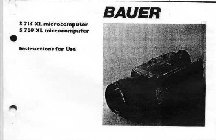 Bauer s715 xl and s709xl microcomputer_user manual_english