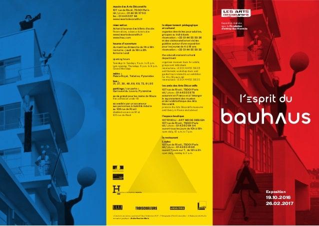 musée des Arts Décoratifs 107 rue de Rivoli, 75001 Paris tél / phone: 01 44 55 57 50 fax: 01 44 55 57 84 www.lesartsdeco...