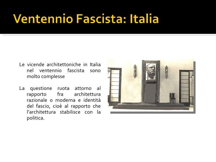 Bauhaus e l 39 architettura razionalista for Architettura fascista in italia