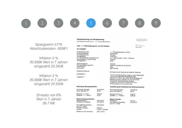 Spargewinn 577€ Abschlusskosten -500€!! Inflation 2 % 20.939€ Wert in 7 Jahren eingezahlt 22.250€ Inflation 2 % 20.939€ Wer...