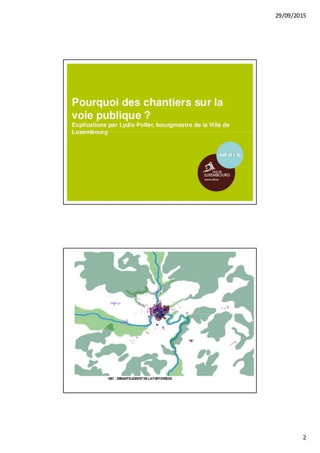Baustellen in der Stadt Luxemburg Slide 2