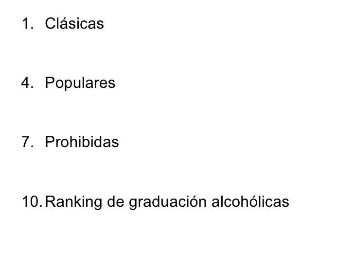 Las elaboraciones por el tema el alcoholismo