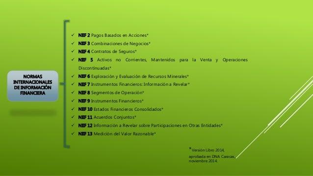 NORMAS INTERNACIONALES DE INFORMACIÓN FINANCIERA  NIIF 2 Pagos Basados en Acciones*  NIIF 3 Combinaciones de Negocios* ...