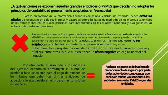 ¿A qué sanciones se exponen aquellas grandes entidades o PYMES que decidan no adoptar los principios de contabilidad gener...