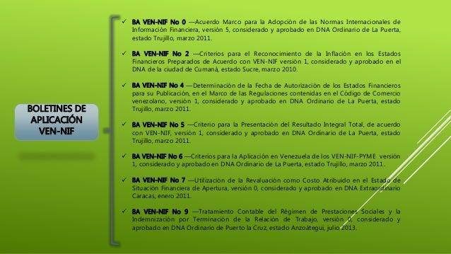 BOLETINES DE APLICACIÓN VEN-NIF  BA VEN-NIF No 0 ―Acuerdo Marco para la Adopción de las Normas Internacionales de Informa...