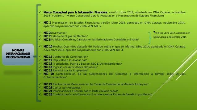 NORMAS INTERNACIONALES DE CONTABILIDAD  Marco Conceptual para la Información Financiera, versión Libro 2014, aprobada en ...