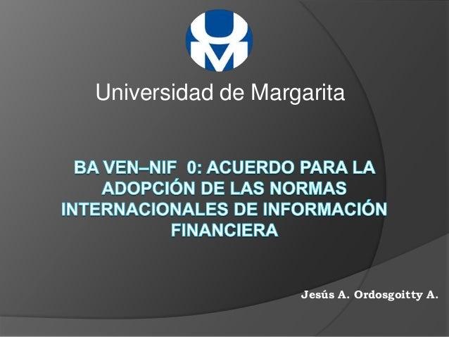 Universidad de Margarita Jesús A. Ordosgoitty A.