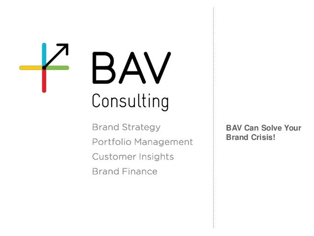 BAV Can Solve Your Brand Crisis!
