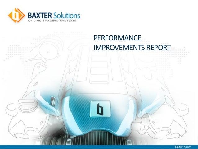 PERFORMANCEIMPROVEMENTS REPORT