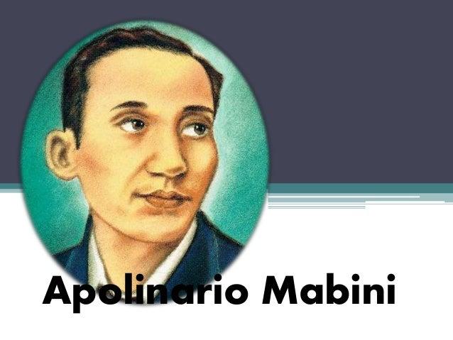 Essays of apolinario mabini