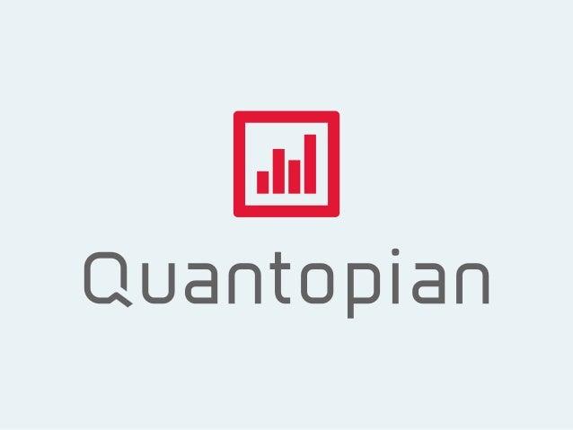 DIY Quant Strategies on Quantopian