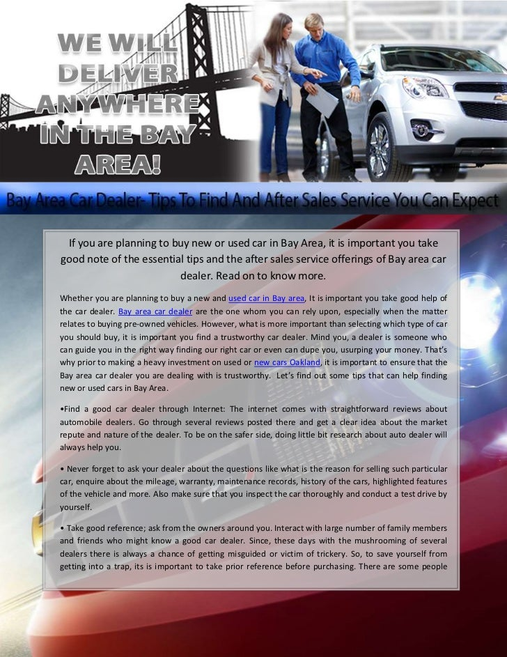 Used Cars Bay Area >> Bay Area Car Dealer Tips To Find And After Sales Service
