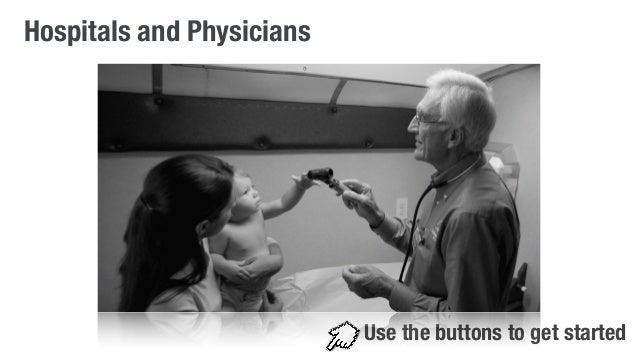Hospitals and Physicians  Use the buttons to get started