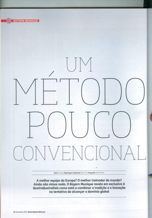 Revista Quatro Quatro Dois Portugal (Fev/2014): Um Método Pouco Convencional