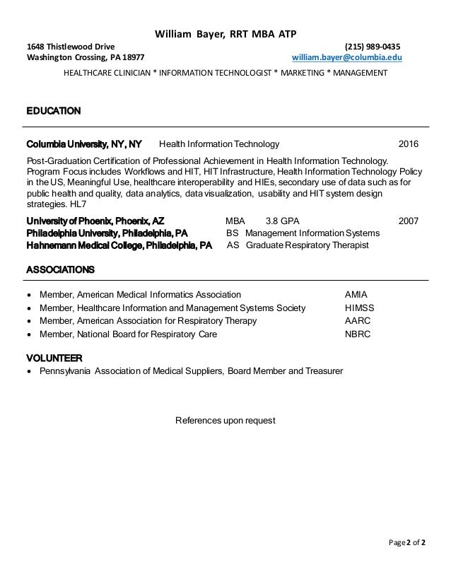 bayer resume clinical analyst