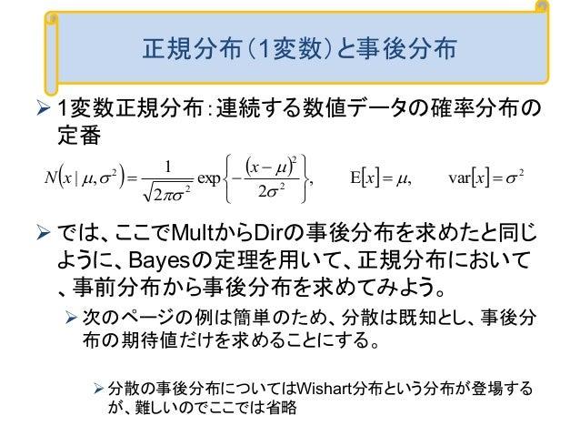 クラシックな機械学習の入門 2.ベイズ統計に基づく推論
