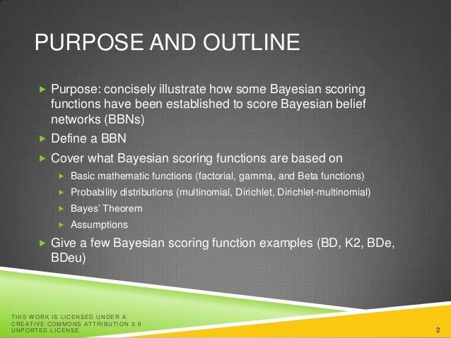 Bayesian scoring functions for Bayesian Belief Networks Slide 2