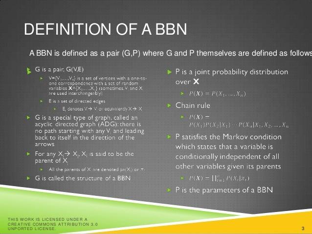 Bayesian scoring functions for Bayesian Belief Networks Slide 3